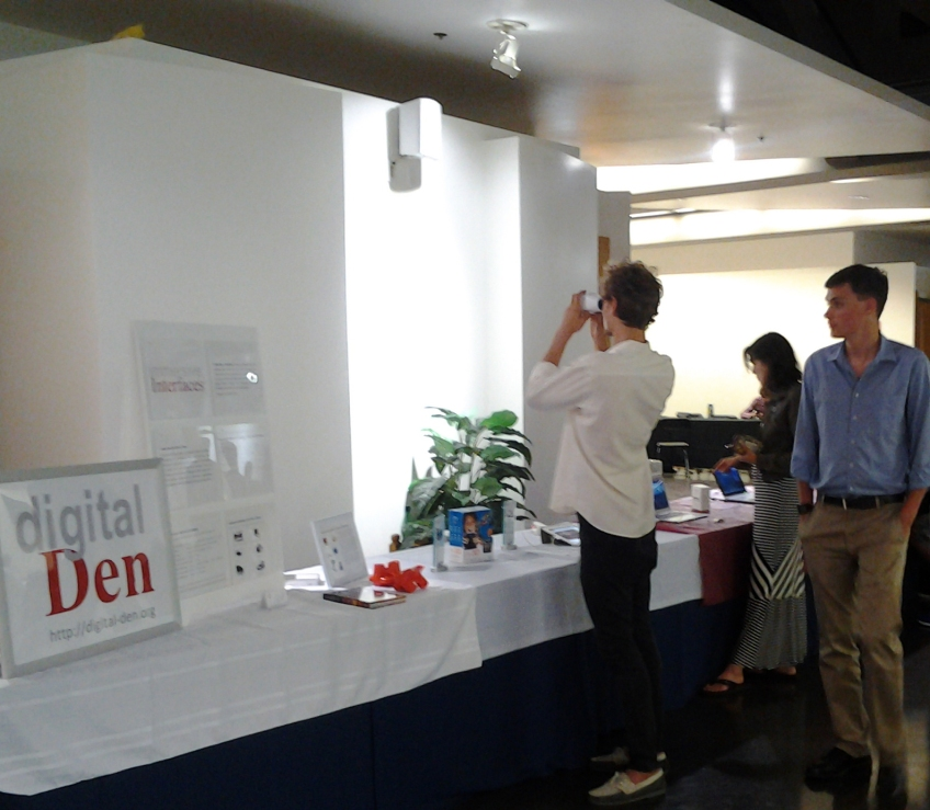 Attendees tried out Digital Den's immersive exhibit