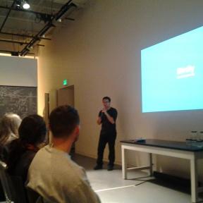 Max Rheiner speaking about Birdly